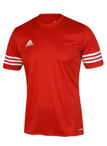 adidas Men's Entrada Red climalite Crew Polyester Training T-shirt