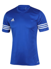 adidas Men's Entrada Blue climalite Crew Polyester Training T-shirt
