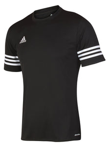 adidas Men's Entrada Black climalite Crew Polyester Training T-shirt
