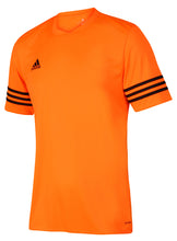 adidas Men's Entrada Orange climalite Crew Polyester Training T-shirt