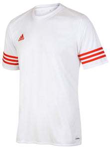 adidas Men's Entrada White climalite Crew Polyester Training T-shirt