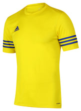 adidas Men's Entrada Yellow climalite Crew Polyester Training T-shirt