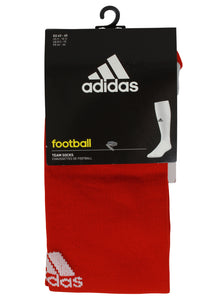 adidas Men's Milano Cushioned Red Football Socks