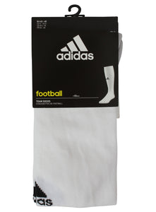 adidas Men's Milano Cushioned White Football Socks