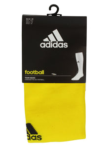 adidas Men's Milano Cushioned Yellow Football Socks