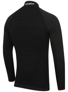 adidas Mens TechFit climaheat Long Sleeve Compression Top - S94386 - Black Rear