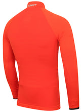 adidas Mens TechFit climaheat Long Sleeve Compression Top - AY3765 - Orange Rear