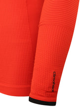 adidas Mens TechFit climaheat Long Sleeve Compression Top - AY3765 - Orange Sleeve