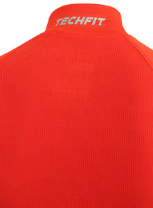 adidas Mens TechFit climaheat Long Sleeve Compression Top - AY3765 - Orange Technology