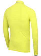 adidas Mens TechFit climaheat Long Sleeve Compression Top - AY3759 - Yellow Lime Green Rear