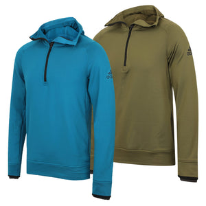 adidas Mens climaheat Half Zip Fleece Training Hoodie