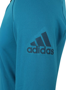 adidas Mens climaheat Half Zip Fleece Training Hoodie - AZ1287 - Blue Logo