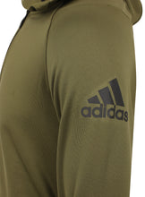 adidas Mens climaheat Half Zip Fleece Training Hoodie - AZ1286 - Green Logo