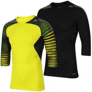 adidas Men's TechFit climacool 3/4 Length Sleeve Compression T-Shirt