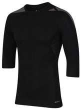 adidas Men's TechFit climacool Black 3/4 Length Sleeve Compression T-Shirt