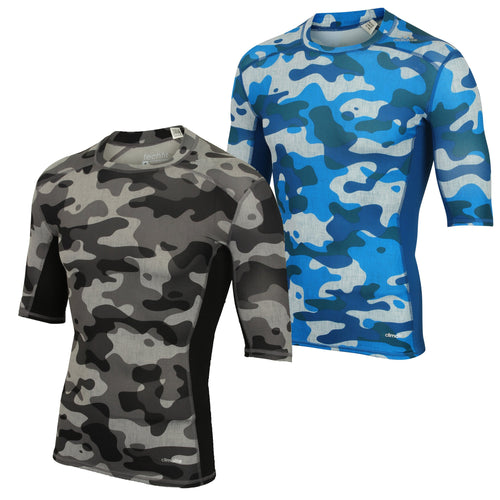 adidas Men's TechFit Base climalite Camo Print Compression T-Shirt Baselayer
