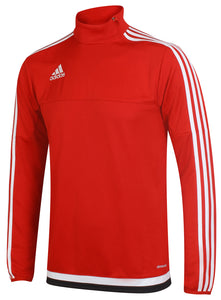 adidas Men's Tiro Red climacool Long Sleeve Training Top
