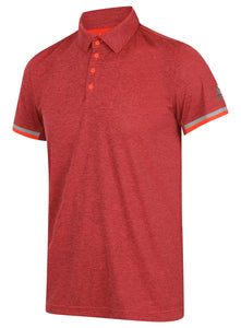 adidas Men's Uncontrol climachill Red Pink Relaxed Loose Fit Tennis Polo Shirt
