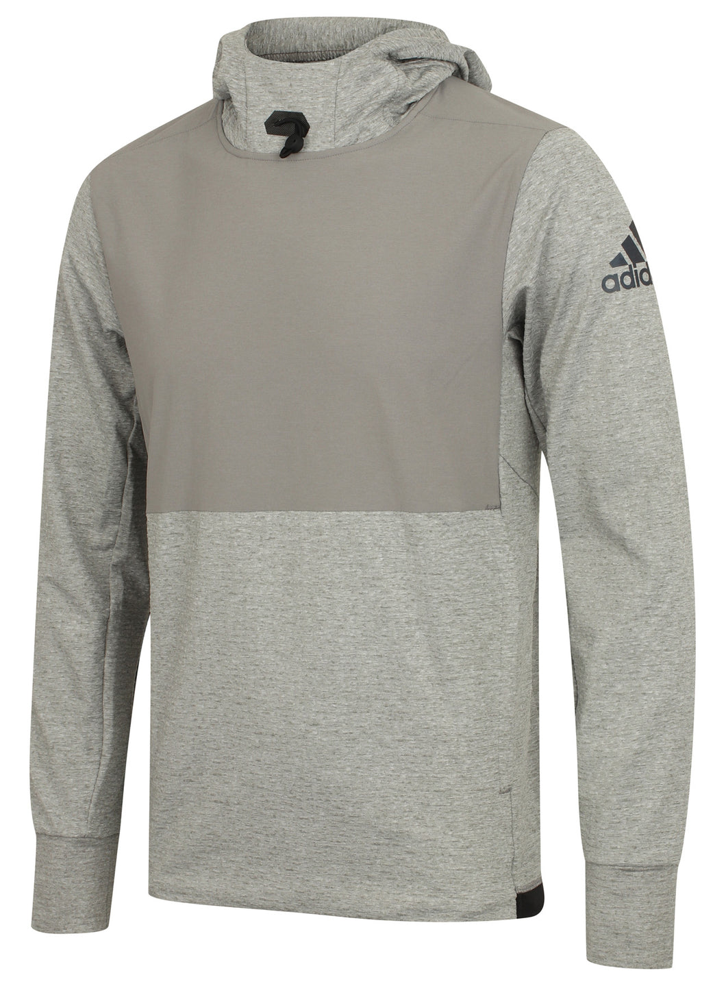 adidas Men's Workout climalite Slim Fit Pullover Hoodie Grey BR8537 Front