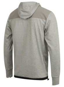 adidas Men's Workout climalite Slim Fit Pullover Hoodie Grey BR8537 Rear