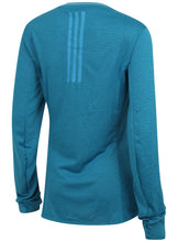 adidas Womens Supernova climalite Long Sleeve Running T-Shirt Blue B43381 Rear