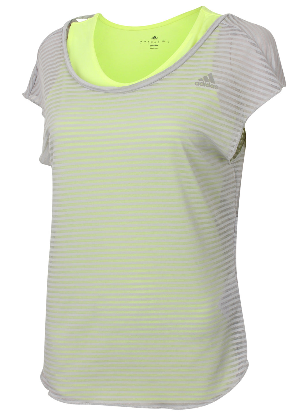 adidas Women's Double Layer climalite Vest and T-Shirt Yellow/Grey