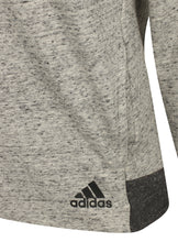adidas Womens Grey Melange Crew Cotton Fleece Sweatshirt - S93954 - Logo