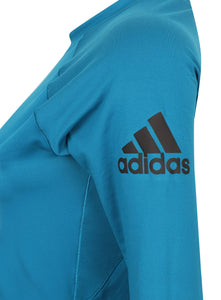 adidas Womens climaheat Long Sleeve Thermal Training Top - S95010 - Blue Logo