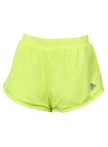 adidas Women's Run 2 Way Yellow 2 Inch Reversible Running Shorts