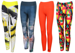 adidas Women's Ultimate Fit Multicoloured Full Length Gym Leggings