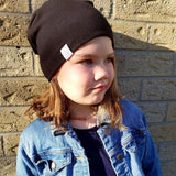 Tiny Sprigs Slouchy Beanie Purple Black