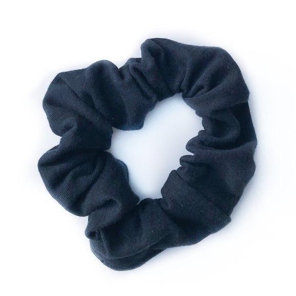 Tiny Sprigs Black Hair Scrunchie