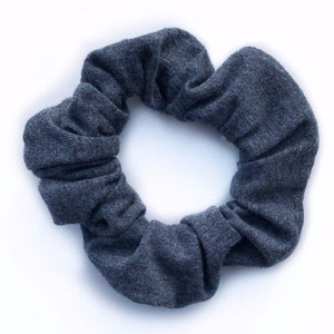 Tiny Sprigs Dark Grey Hair Scrunchie