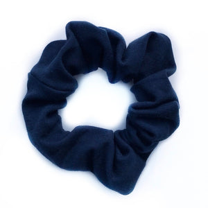 Tiny Sprigs Navy Hair Scrunchies