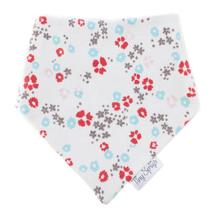 Tiny Sprigs Scattered Floral Organic Drool Bib