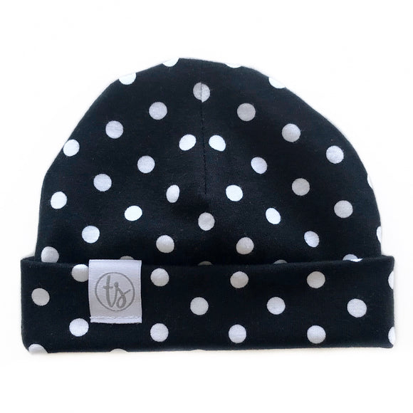 Tiny Sprigs Polka Dot Baby Hat
