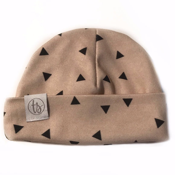 Tiny Sprigs Geo Triangles Organic Baby Hat