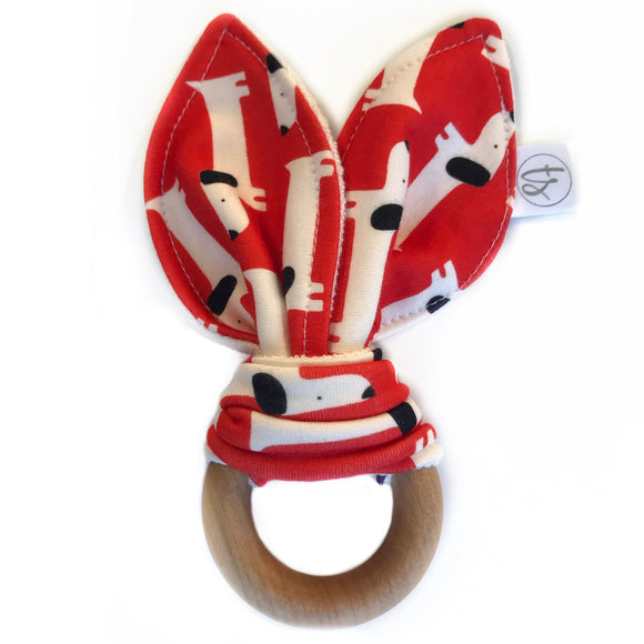 Red Dogs Organic Bunny Ear Teether