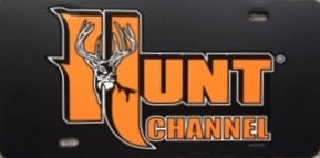 HUNT CHANNEL CAR TAG - $10