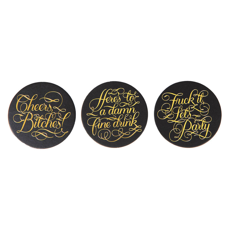 Calligraphuck Cheers Bitches Coasters 15 pk .