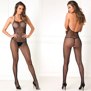 Halter Fishnet Bodystocking - Zinful Pleasures