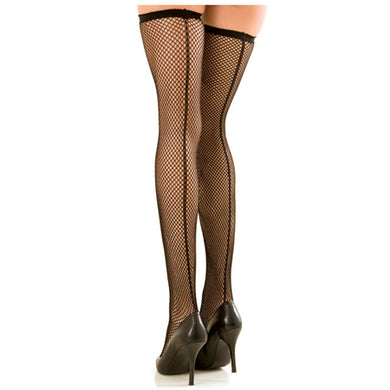 Fishnet Thigh Highs W/ Backseam - Zinful Pleasures