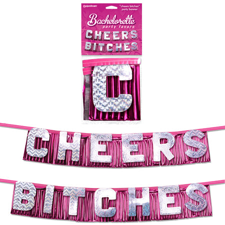 "Bachelorette Party Favors ""Cheers Bitches"" Party Banner - Zinful Pleasures"