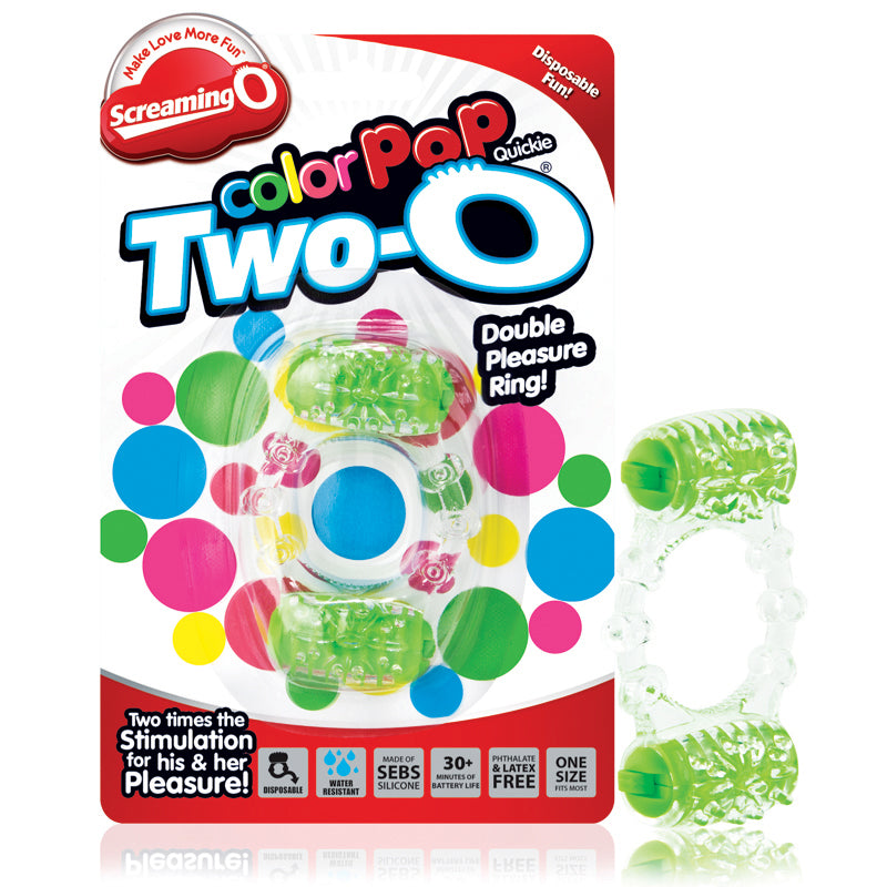 Screaming O Two-O Color Pop Green - Zinful Pleasures