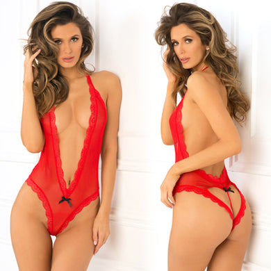 Heart Back Teddy Red M/L - Zinful Pleasures