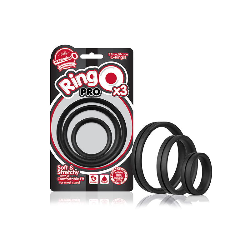 Screaming O RingO Pro x3 - Black - Zinful Pleasures
