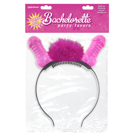 Bachelorette Party Favors Flashing Light-Up Pecker Headband - Zinful Pleasures