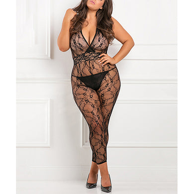 Lacy Movie Bodystocking Black O/S - Zinful Pleasures