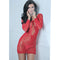Tie Breaker Long Sleeve Dress Red - Zinful Pleasures