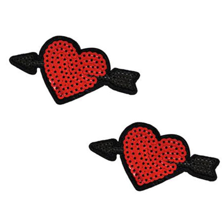 Neva Nude Reusable Pasty Hearts Sequins - Zinful Pleasures